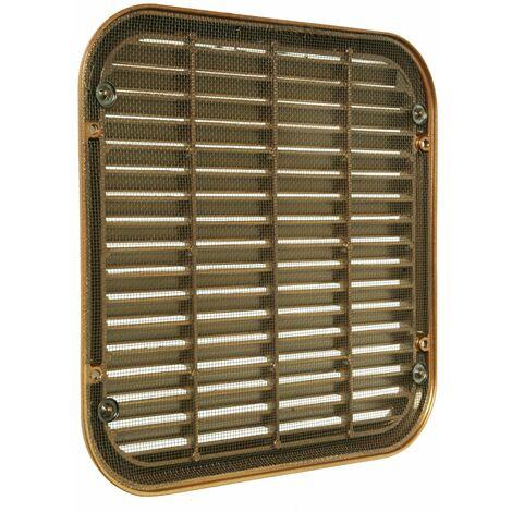 La ventilation asqr2222z-y Grille Antibris de superposer, aluminium bronze