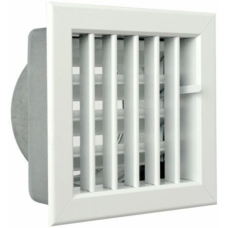 La ventilation gcsib1615120-y Grille encastrable pour cheminées, aluminium laqué blanc, 160x 150mm