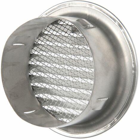 La ventilation gta100r-y Grille ronde encastrable, aluminium