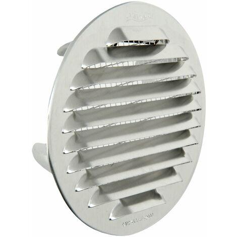 La ventilation gtsa100r-y Grille ronde encastrable, aluminium, 125mm