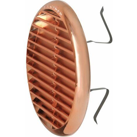 La ventilation tur125ran Grille de ventilation en plastique avec ressorts, effet cuivré, Ø 155mm