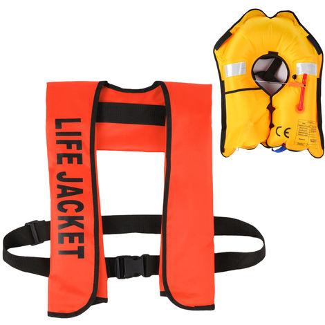 La Vie Gonflable Veste Adulte Gilet De Sauvetage Sports Aquatiques Peche Natation Survie Veste, Orange