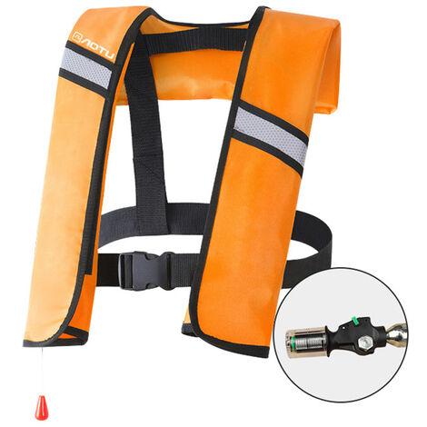La Vie Gonflable Veste Adulte Gilet De Sauvetage Sports Aquatiques Peche Natation Survie Veste, Orange, Modele Automatique