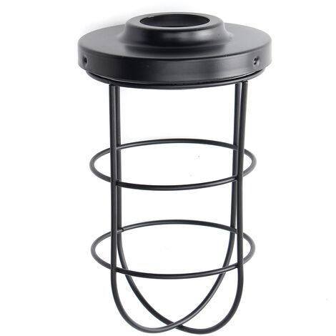 Lámpara de techo vintage retro jaula de metal 105 * 200 mm