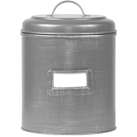 LABEL51 Canister 10x10x15 cm S Antique Grey - Grey
