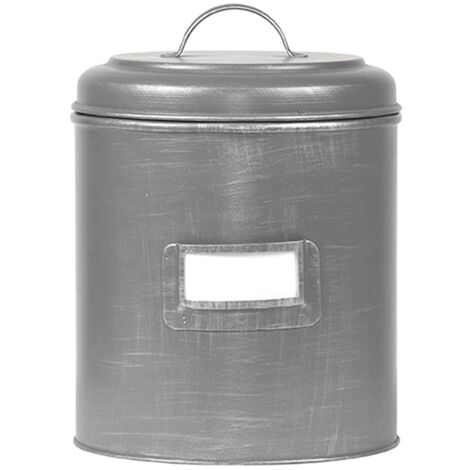 LABEL51 Canister 14x14x20 cm M Antique Grey - Grey