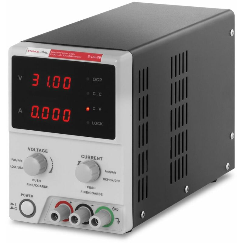 Regelbar DC LED Labornetzgerät 30V 5A Labornetzteil Schalter Netzteil Netzgerät