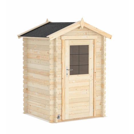 L'abri de jardin Huron 2,2 m2 en bois brut