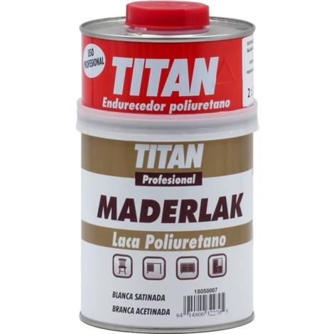 Laca PU Blanca Satinada Maderlak 750 ml