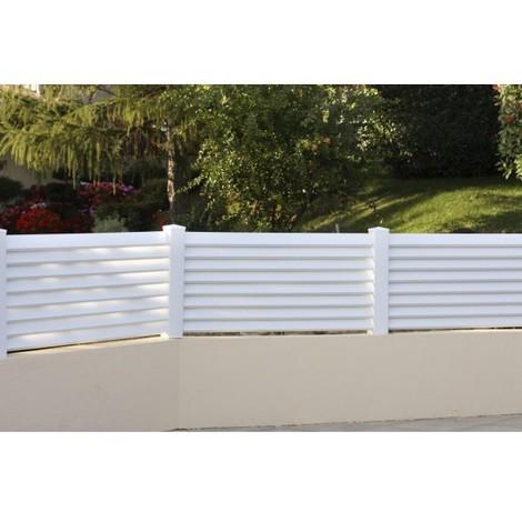 Lacanau - Clôture PVC - hauteur 0,78m - vendu au KIT (Lg 1.20m)
