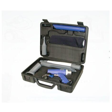 Lacmé - Caja de pistolas de aspiración neumática compuesta profesional 2 en 1