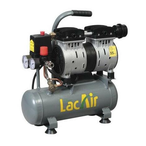 Lacmé - Compresor silencioso sin aceite 0,75CV Monofásico 6,2m3/h 6L - Silencioso 6/6 SH