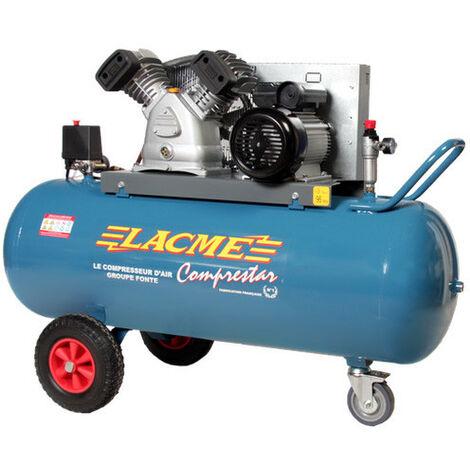 Lacmé - Compresseur à courroie 3kW Monophasé 20m3/h cuve 150L - 20V150M