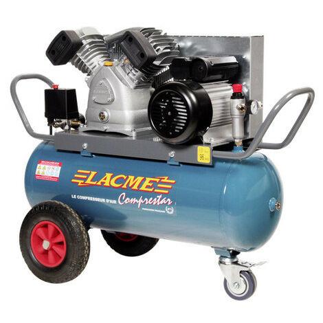 Lacmé - Compresseur à courroie 4CV Monophasé 20m3/h cuve 50L - 20V50M