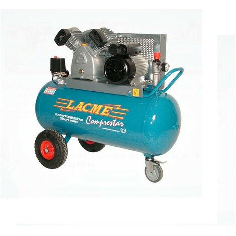 Lacmé - Compresseur à courroie 4CV Monophasé 23m3/h cuve 100L - 23V100M
