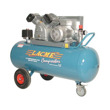 Lacme | Compresseur à courroie triphasé 27 m³/h sur cuve 150 litres