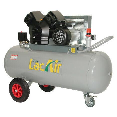 Lacmé - Compresseur à courroie turbo ventilation 4CV Monophasé 23m3/h 150L - TwinAir 23/150 M