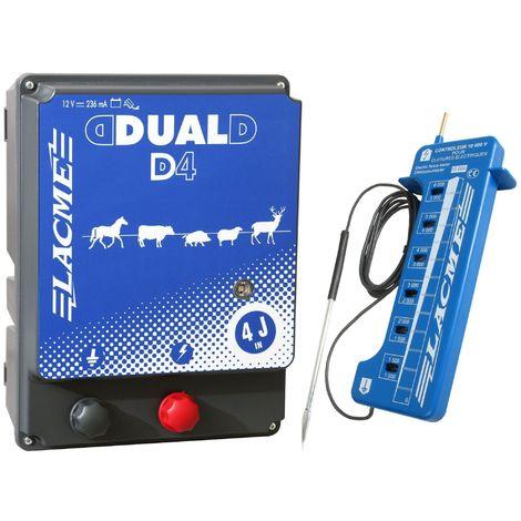 LACMÉ Dual D4 12 V / 230 V Kombigerät, 3,0 Joule + Zaunprüfer gratis
