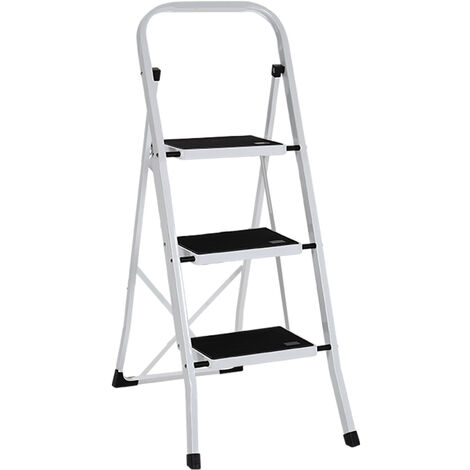 Ladder Folding Non Slip Tread Steel Ladder Home Cleaning Decorating