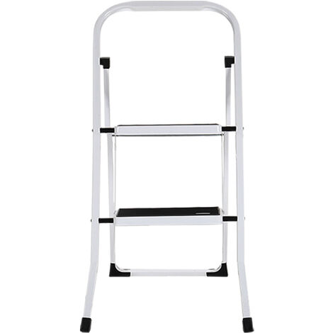 2 Step Ladder Folding Non Slip Tread Steel Ladder Home Cleaning Decorating