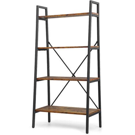 "main image of ""Ladder Shelf 4-Tier Bookcase 129*35*64cm"""
