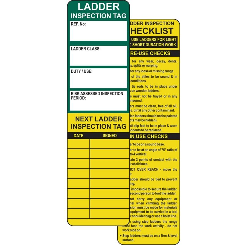 Image of Centurion Europe Ladder Tag Inserts - Pack of 10