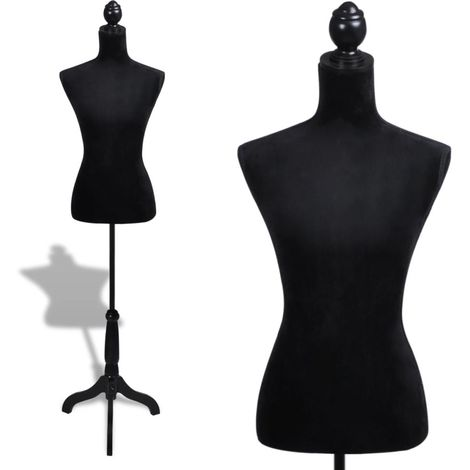 Ladies Bust Display Black Female Mannequin Female Dress Form VD26067