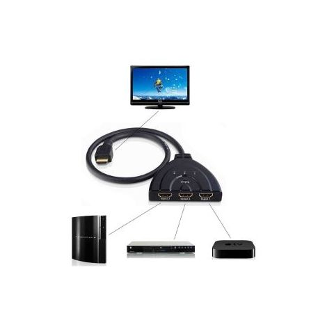 Ladron conmutador HDMI de 3 puertos - 3 port switch HDMI 1080P PS3 XBOX HDTV