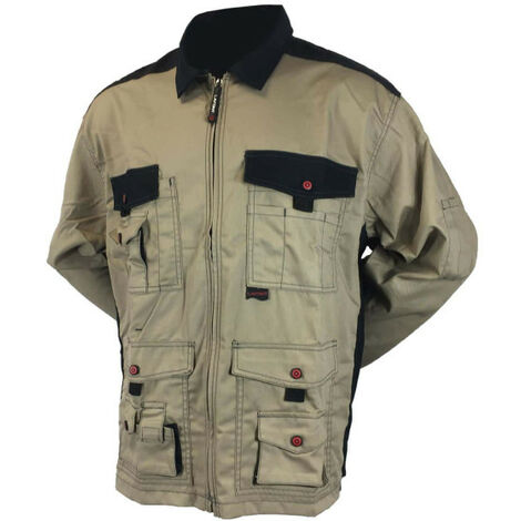 LAFONT Work Attitude work jacket - Beige and black - Size 5