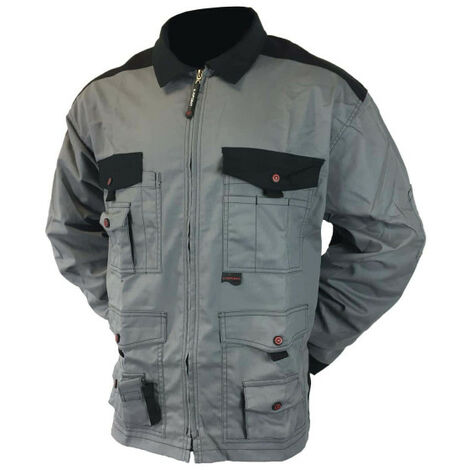 LAFONT Work Attitude Work Jacket - Gray and Black - Size 6