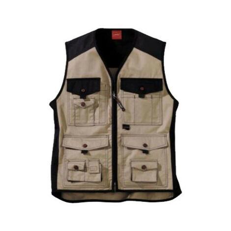 LAFONT Work Attitude Work Vest - Beige-Black - Size 2