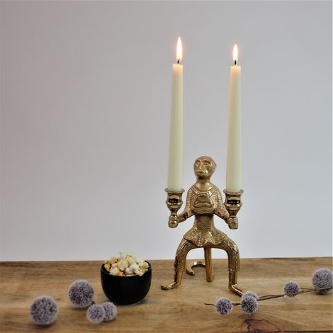 Kerzenständer Rhinoceros Nashorn 34x10,2xH22cm Sonderpreis Lagerräumung