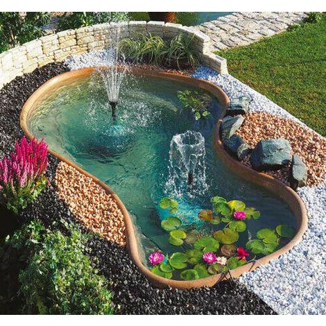Laghetto da giardino laguna 1800 litri esterni for Laghetto in giardino