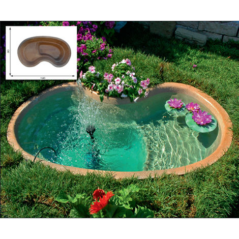 Vasche Da Giardino Plastica.Laghetto Da Giardino Polinesia Litri 200 5 1000051276