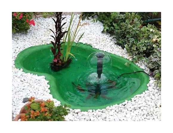 Laghetto verde da giardino per tartarughe piante e pesci for Laghetto resina