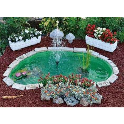 Pesci Da Laghetto Giardino.Laghetto Verde Da Giardino Per Tartarughe Piante E Pesci
