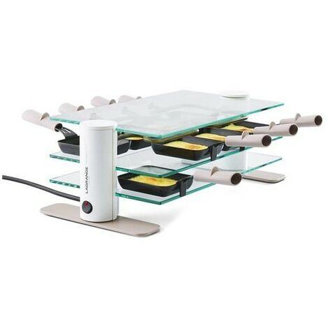 LAGRANGE Appareil à Raclette 8 Personnes 1000W Transparence Minéral