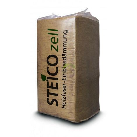 Laine de bois à souffler STEICO ZELL pour isolation des combles 15kg - sac(s) de 15kg