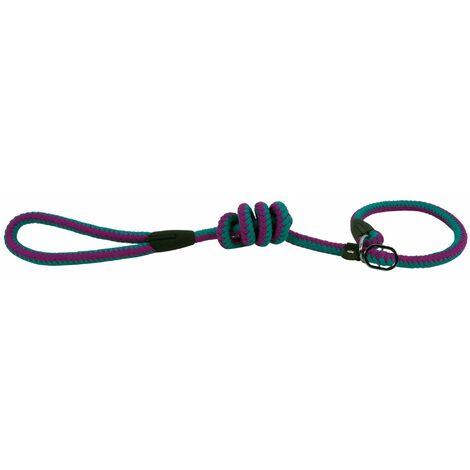 Laisse lasso corde fluo turquoise et violet