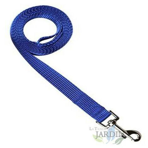 Laisse nylon pour chiens 150cm bleu