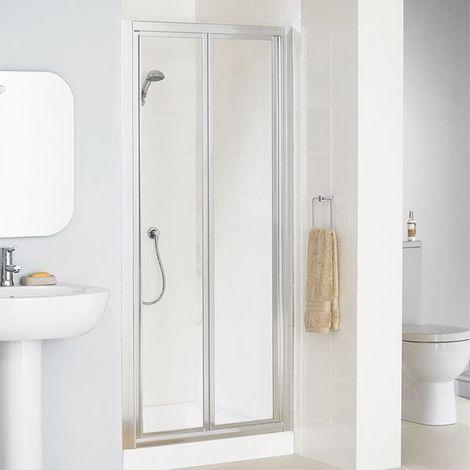 Lakes Classic Bi-Fold Shower Door 1850mm H x 700mm W - Silver