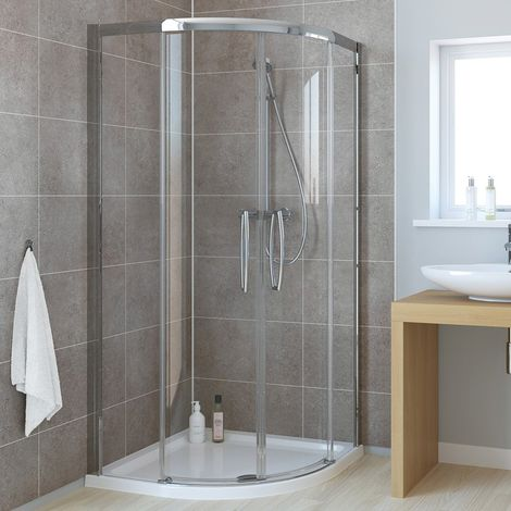 Lakes Classic Low Threshold Offset Quadrant Double Sliding Shower Enclosure 900mm x 800mm - Left Handed