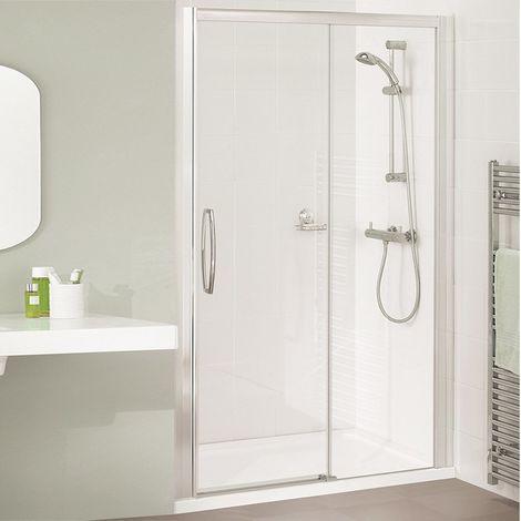 Lakes Classic Low Threshold Semi Frameless Sliding Shower Door 1850mm H x 1400mm W - Left Handed