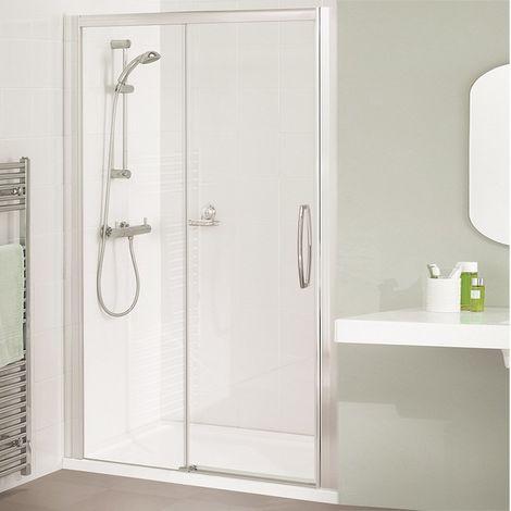 Lakes Classic Low Threshold Semi Frameless Sliding Shower Door 1850mm H x 1500mm W - Right Handed