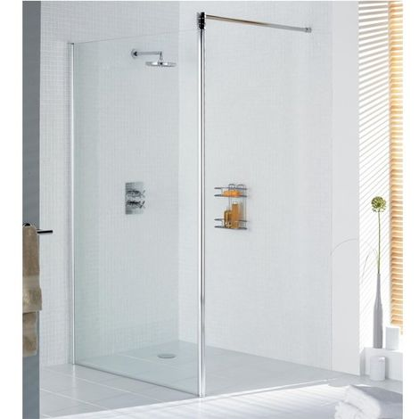 Lakes Classic Walk-In Shower Screen 1985mm H x 700mm W - Silver