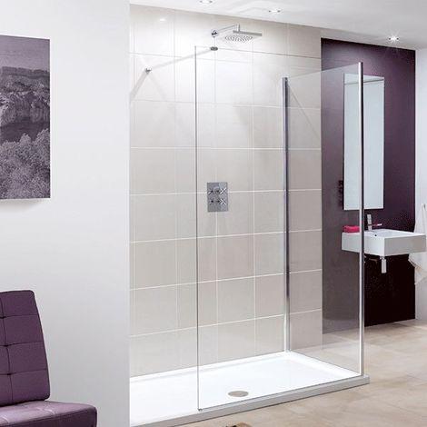 Lakes Coastline Marseilles Walk-In Shower Screen 2000mm H x 1200mm W - 8mm Glass