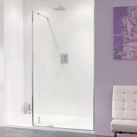 Lakes Coastline Nice Walk-In Shower Screen 2000mm H x 1100mm W - 10mm Glass
