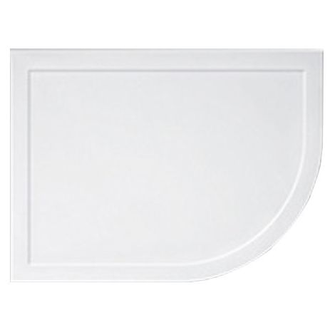 Lakes Standard Offset Quadrant Shower Tray with Waste 900mm x 760mm - Left Handed