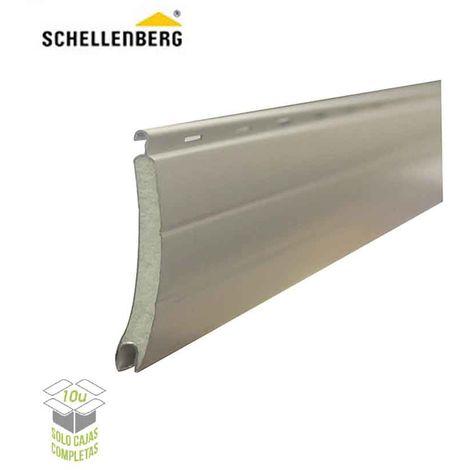 Lama aluminio para persiana 45mmx2m blanca