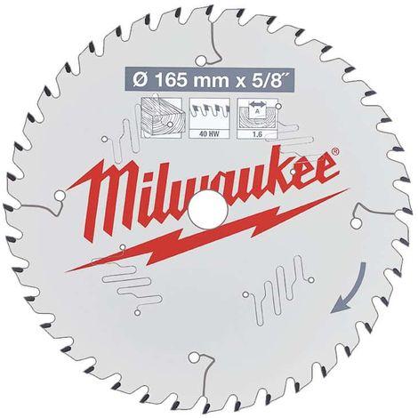Lama circolare MILWAUKEE 40 denti 1,6x165mm 4932471312